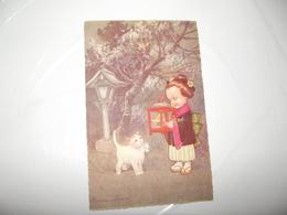 CPA Enfant Type Japonaise Avec Chat édition Italie M N°1982-4 Top Carte - Colombo, E.