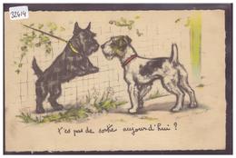 CHIENS - PAR GERMAINE BOURET - B ( PLI A GAUCHE ) - Bouret, Germaine