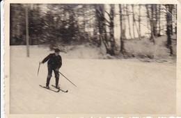 Foto Deutscher Soldat Auf Ski - Fahrt Ins Neujahr - Westfront - 1.1.1940 - 10*7cm (35601) - Krieg, Militär