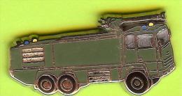 Pin's Pompiers Sapeurs Camion Vert - 6V19 - Firemen