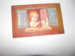 CPA Enfant à La Fenêtre Avec Chaton édition Italie M N°2007-3  Top Carte - Colombo, E.