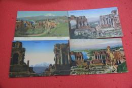Taormina Messina Lotto 17 Cartoline Del Teatro Greco Primi Anni 35 - Non Classificati