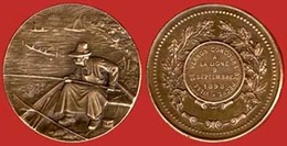 ** MEDAILLE  VILLE  De  VERNON  -  CONCOURS  De  PECHE  1898 ** - France