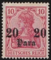 Deutsch  Turkei       .    Michel  .   37      .     *   .     Ungebraucht Mit Falz   .   /   .   Mint-hinged - Deutsche Post In Der Türkei