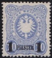 Deutsch  Turkei       .    Michel  .   3   .  Gepruft    .     *   .     Ungebraucht Mit Falz   .   /   .   Mint-hinged - Deutsche Post In Der Türkei