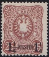 Deutsch  Turkei       .    Michel  .   4   .  Gepruft    .     *   .     Ungebraucht Mit Falz   .   /   .   Mint-hinged - Deutsche Post In Der Türkei