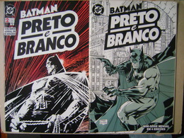 BATMAN BLACK AND WHITE (BRAZIL) - QUINZENAL MINI-SERIES IN 4 EDITIONS, EDITORA APRIL JOVEM - Livres, BD, Revues