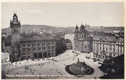PRAGUE.PLACE DE LA ILLE AVEC L'HOTEL DE VILLE ET LE MONUMENT DES HUS. TRADE JKO CARD. CIRCA 1950's CZECH REPUBLIC- BLEUP - Tsjechië