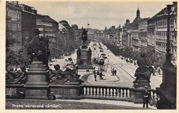 PRAGUE. LA PLACE VENCESLAS. TRADE JKO CARD. CIRCA 1950's CZECH REPUBLIC- BLEUP - Tsjechië