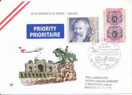 Austria First Flight Cover AUA OS 541 Wien - Delhi 25-10-1997 - 1991-00 Storia Postale