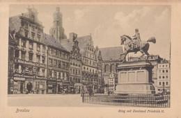BRESLAU. RING MIT DENKMAL FIEDRICH II. TRINKS & CO. CIRCA 1900's. POLAND- BLEUP - Polen