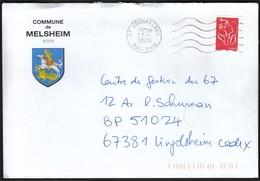 France Hochfelden 2006 / Commune De Melsheim / Bas-Rhin / Coat Of Arms / Dragon - 1961-....