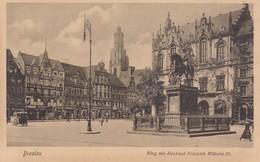 BRESLAU. RING MIT DENKMAL FRIEDRICH WIHELM III. TRINKS & CO. CIRCA 1900's. POLAND- BLEUP - Polen
