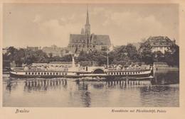 BRESLAU. KREUZKIRCHE MIT FURSTBISCHOFL. PALAIS. TRINKS & CO. CIRCA 1900's. POLAND- BLEUP - Polen