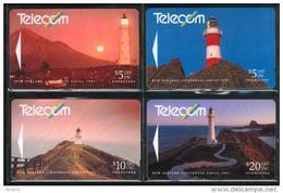 New Zealand - 1991 Lighthouses Set (4) - NZ-G-29/32 - Very Fine Used - New Zealand