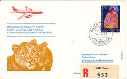 Liechtenstein Swissair First Flight Cover Zürich - Geneve - Dar Es Salaam 4-4-1963 - Liechtenstein