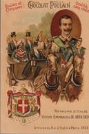 Chromo Poulain Souverains Et Chefs D'état Du Monde.royaume D'italie. Victor Emmanuel III. 1869-1900 - Chocolat