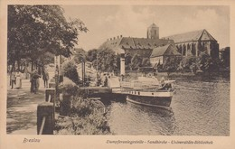 BRESLAU. DAMPFEERANLEGESTELLE-SANDKIRCHE-UNIVERSITATS-BIBLIOTHEK. TRINKS & CO. CIRCA 1900's. POLAND- BLEUP - Polen