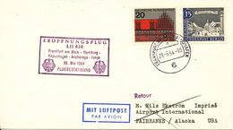 Germany Lufthansa First Flight Frankfurt Am Main - Hamburg - Copenhagen - Anchorage - Tokyo 28-5-1964 - [7] Federal Republic