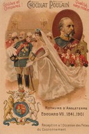 Chromo Poulain Souverains Et Chefs D'état Du Monde.royaume D'angleterre. Edouard VII 1841-1901 - Chocolate