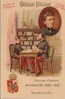 Chromo Poulain Souverains Et Chefs D'état Du Monde.royaume D'espagne. Alphonse XIII 1886-1902 - Chocolate