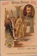 Chromo Poulain Souverains Et Chefs D'état Du Monde. Empire De Russie, Nicolas II 1868-1884 - Cioccolato