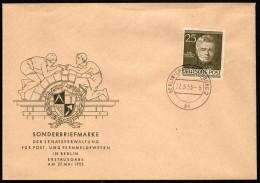BER  SC #9N91 (Mi 98) 1953 Schinkel FDC 05-27-1953 - FDC: Covers