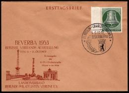 BER SC #9N95 (Mi 102) 1953 Freedom Bell FDC 10-09-1953 - [5] Berlin