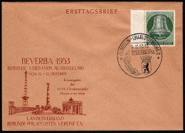 BER  SC #9N95 (Mi 102) 1953 Freedom Bell FDC 10-09-1953 - FDC: Covers
