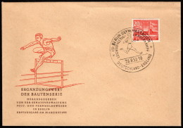 BER  SC #9N102 1953 Olympic Stadium, Berlin FDC 08-29-1953 - FDC: Covers