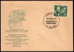 BER  SC #9N105 1954 Ottmar Mergenthaler FDC 05-11-1954 - [5] Berlin