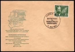 BER  SC #9N105 1954 Ottmar Mergenthaler FDC 05-11-1954 - FDC: Covers