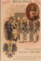 Chromo Poulain Souverains Et Chefs D'état Du Monde. Empire D 'allemagne, Guillaume II 1859-1888 - Chocolate