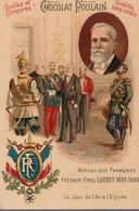 Chromo Poulain Souverains Et Chefs D'état Du Monde. République Française, Président Emile Loubet 1838-1899 - Chocolat