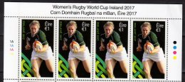 2017 Ireland  - 2017 Wormens Rugby World Cup 2017 Ireland - Top 4 V Of The Sheetlet - Paper MNH** MiNr. 2227 - Rugby