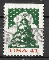 2007 Christmas, Christmas Tree, Imperf Top, Booklet, Used - United States