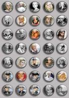 Brigitte Bardot Movie Film Fan ART BADGE BUTTON PIN SET 5 (1inch/25mm Diameter) 35 DIFF - Films