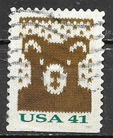 2007 Christmas, Bear, Imperf Bottom, Booklet, Used - United States