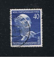 17. Sept. 1955 1. Todestag Von Wilhelm Furtwängler  Michel 128 Gestemplt O - Gebraucht