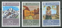 Suisse YT N°980/982 Europa 1975 Tableaux Neuf ** - Suisse