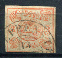 19400) BRAUNSCHWEIG # 3 Gestempelt Aus 1852, 320.- € - Braunschweig