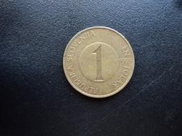 SLOVÉNIE : 1 TOLAR   1993    KM 4     TTB - Slovénie