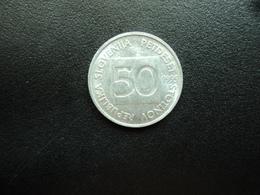 SLOVÉNIE : 50 STOTINOV   1995    KM 3     SUP+ - Slovénie