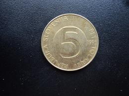 SLOVÉNIE : 5 TOLARJEV   1995 (BP) *   KM 6     SUP - Slovénie