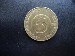 SLOVÉNIE : 5 TOLARJEV   1995 (K) *   KM 6     TTB - Slovénie