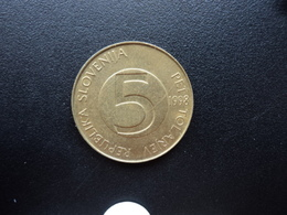 SLOVÉNIE : 5 TOLARJEV   1998 F.M. *   KM 6     SUP - Slovénie