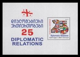 Georgia 2018 Mih. 698 (Bl.75) Diplomatic Relations. State Flags MNH ** - Géorgie