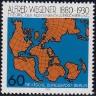 GERMAN Berlin - Scott #9N451 World Map / Mint NH Stamp - Geographie
