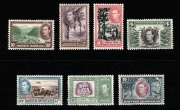 BRITISH HONDURAS 1938 Sc.115/121  MH* - British Honduras (...-1970)