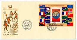 Solomon Islands 1981 Scott 449 S/S FDC Mini South Pacific Games - Solomon Islands (1978-...)